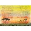 Parvez Taj Leinwandbild Orange Plains, Grafikdruck