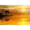 Parvez Taj Golden Lake Graphic Art Wrapped on Canvas