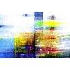 Parvez Taj City Colors Graphic Art Wrapped on Canvas