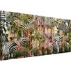 Parvez Taj Zebras Graphic Art Wrapped on Canvas