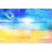 Parvez Taj Horizon Sun Art Print Wrapped on Canvas