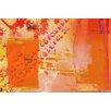 Parvez Taj Orange Glow Art Print Wrapped on Canvas