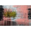 Parvez Taj 'Pink Painted View' Painting Print on Wrapped Canvas