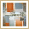 Parvez Taj 'Through Orange and Grey' Framed Graphic Art