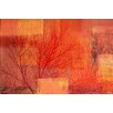 Parvez Taj 'Red Branches' Graphic Art on Wrapped Canvas