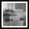 Parvez Taj 'Grey Landscape' Framed Graphic Art