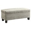 Kingstown Home Kendrick Chevron Print Fabric Storage Bench