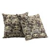 Kingstown Home Novella Mod Geometric Print Throw Pillow (Set of 2)