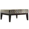 Kingstown Home Woodfield Rectangular Link Square Ottoman with Cushion