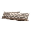 Kingstown Home Ariana Wavy Stripe Kidney Lumbar Pillow (Set of 2)