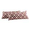 Kingstown Home Ariana Ikat Kidney Lumbar Pillow (Set of 2)