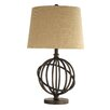 "Kingstown Home Alvira Metal Orbit Globe 26"" H Table Lamp with Empire Shade"