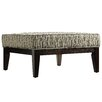Kingstown Home Woodfield Tonal Oval Square Ottoman with Cushion