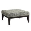 Kingstown Home Woodfield Damask Square Ottoman with Cushion
