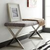 Kingstown Home Silvestre X Chrome Bench