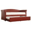 Kingstown Home Cataleya Daybed with Trundle in Wine Red