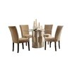Kingstown Home Emanuella 5 Piece Dining Set in Light Brown Upholstery