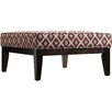 Kingstown Home Woodfield Ikat Square Ottoman with Cushion