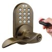 Milocks Keyless Electronic Door Lever with Keypad and Remote Contro