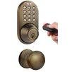 Milocks Keyless Electronic Single Cylinder Entrance Knobset