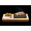 SteakStones 42cm Bamboo and Stoneware Plate and Sauces Set