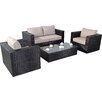 Port Royal Luxe 4 Seater Sofa Set with Cushions