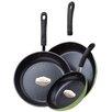 Ozeri 3 Piece Green Earth Frying Pan Set