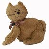 Craft Outlet Shabby Elegance Chenille Fabric Cat Collectible Doll Figurine