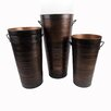Craft Outlet Vintage 3 Piece Round Pot Planter Set
