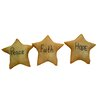 "Craft Outlet ""Hope, Faith, Peace"" Star (Set of 12)"
