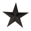 Tin Star Wall Decor - Size: 6 inch, Color: Black Tin - Craft Outlet Garden Statues and Outdoor Accents