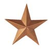 Tin Star Wall Decor - Size: 6 inch, Color: Copper Tin - Craft Outlet Garden Statues and Outdoor Accents