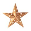 Star Wall Decor with Cutouts - Size: 6 inch - Craft Outlet Garden Statues and Outdoor Accents