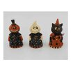 Craft Outlet 3 Piece Papier Mache Halloween LED Lighted Decor Set