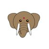 Star Editions Animaru Asian Elephant Graphic Art