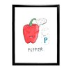 Star Editions Gerahmtes Poster Doodles Pepper, Kunstdruck