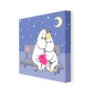 Star Editions Moomins Moomintroll and Snorkmaiden by Tove Jansson Graphic Art Wrapped on Canvas