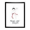 Star Editions Doodles Moves Like Jagger Framed Art Print