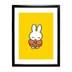 Star Editions Miffy by Dick Bruna Framed Graphic Art in Yellow