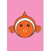 Star Editions Animaru Fish Graphic Art in Pink and Orange