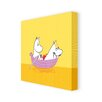 Star Editions Moomins Moomintroll and Snorkmaiden on a Boat by Tove Jansson Graphic Art Wrapped on Canvas