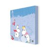 Star Editions Moomins The Moomins Play in The Snow by Tove Jansson Graphic Art Wrapped on Canvas