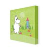 Star Editions Moomins Moomintroll in Front of The Moominhouse by Tove Jansson Graphic Art Wrapped on Canvas
