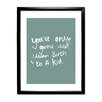 Star Editions Plain and Simple 'Kid' Framed Typography