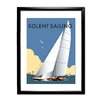 Star Editions Solent Sailing by Dave Thompson Framed Vintage Advertisement