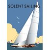 "Star Editions Poster ""Solent Sailing"" von Dave Thompson, Retro-Werbung"