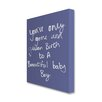 Star Editions Plain and Simple 'Baby Boy' Typography Wrapped on Canvas