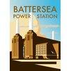"""Star Editions Poster """"Battersea Power Station"""" von Dave Thompson, Retro-Werbung"""