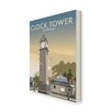 Star Editions The Clock Tower, Clapham, London by Dave Thompson Vintage Advertisement Wrapped on Canvas