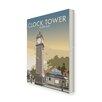 Star Editions Leinwandbild The Clock Tower, Clapham, London von Dave Thompson, Retro-Werbung